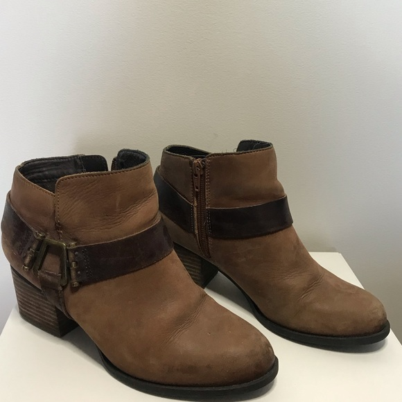 ALDO brown leather booties